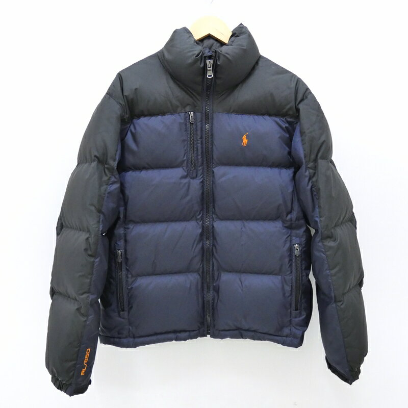 【中古】Polo Ralph Lauren/ポロラルフローレン ダウンジャケット サイズ:M カラー:ネイビー×ブラック / アメカジ【f093】