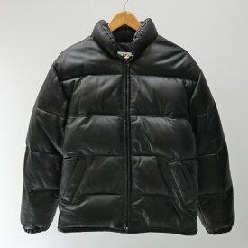【中古】Schott/ショット 214D ラムレザーダウンジャケット サイズ:38 カラー:ブラック / アメカジ【f093】