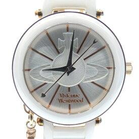 【中古】Vivienne Westwood/ヴィヴィアン・ウエストウッド 腕時計 VV067 クォーツ アナログ サイズ:- カラー:ホワイト(文字盤)×ホワイト(ベルト)【f131】