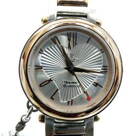 【中古】Vivienne Westwood/ヴィヴィアン・ウエストウッド 腕時計 VV006RSSL クォーツ ステンレススティール×その他ベルト サイズ:- カラー:シルバー系(文字盤)×ゴールド×シルバー(ベルト)【f131】