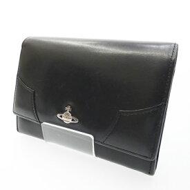 【中古】Vivienne Westwood/ヴィヴィアン・ウエストウッド 二つ折り財布 サイズ:- カラー:ブラック【f124】