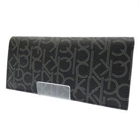417d1ee0d871 中古 【中古】Calvin Klein/カルバンクライン 二つ折り長財布 サイズ:- カラー:ブラック【f124】
