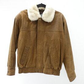 【中古】BOSS/ボス 1996年モデル BOSSジャン レザージャケット サイズ:L カラー:ブラウン【f098】