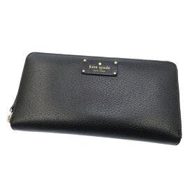 【中古】kate spade/ケイトスペード ラウンドファスナー長財布 サイズ:- カラー:ブラック【f125】