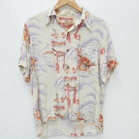 【中古】Denime/ドゥニーム シャツ半袖 サイズ:- カラー:総柄 / アメカジ【f101】