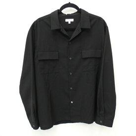 【中古】BEAUTY&YOUTH UNITED ARROWS/ビューティアンドユースユナイテッドアローズ 長袖オープンカラーシャツ サイズ:L カラー:ブラック / セレクト【f099】