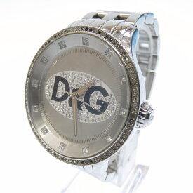 【中古】D&G/ディーアンドジー 腕時計/クォーツ/ステンレススティール サイズ:- カラー:ホワイト(文字盤)×シルバー(ベルト)【f131】
