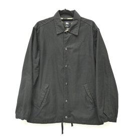 【中古】STUSSY/ステューシー コーチジャケット サイズ:L カラー:ブラック / ストリート【f095】