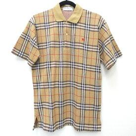 【中古】Burberry's/バーバリーズ 90s ノバチェック 半袖ポロシャツ サイズ:S カラー:ベージュ系 / インポート【f102】