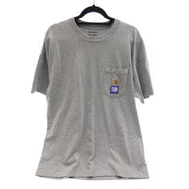 【中古】PACCBET ラスベート I025834.01V.00.03 'PACCBET POCKET T-SHIRT' x CARHARTT WIP:Gosha Rubchinskiy Tシャツ半袖 サイズ:L カラー:グレー【f108】