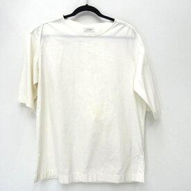 【中古】LEMAIRE ルメール コットンポプリンTシャツ 18SS カットソー サイズ:44 カラー:ホワイト【f108】