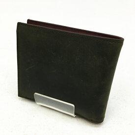 【中古】COCOMEISTER ココマイスター 二つ折り財布 サイズ:- カラー:グリーン model:ナポレオンカーフ ボナパルトパース【f124】