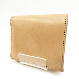 【中古】Whitehouse Cox ホワイトハウスコックス 二つ折り財布 サイズ:- カラー:ベージュ S1975 ヴィンテージブライドレザー 使用感あり【f124】