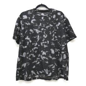 【中古】LAD MUSICIAN ラッドミュージシャン Tシャツ半袖 サイズ:44 カラー:ブラック 2318-71318SS BIG T-SHIRT 60/2 T-CLOTH INKJET FEATHER / ドメス【f104】