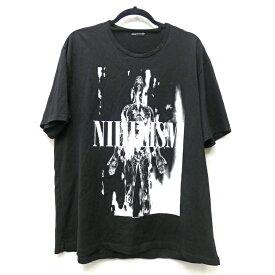 【中古】LAD MUSICIAN ラッドミュージシャン Tシャツ半袖 サイズ:42 カラー:ブラック NIHILISM SUPER BIG T-SHIRT / ドメス【f104】