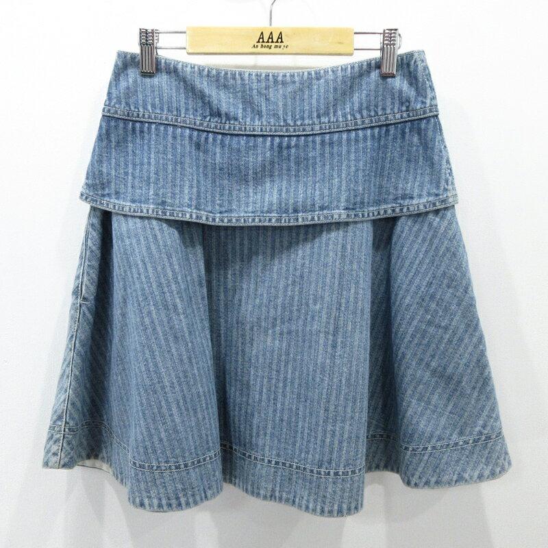 【中古】SEE BY CHLOE/シーバイクロエ デニムスカート サイズ:USA2 カラー:ブルー系 / インポート【f112】
