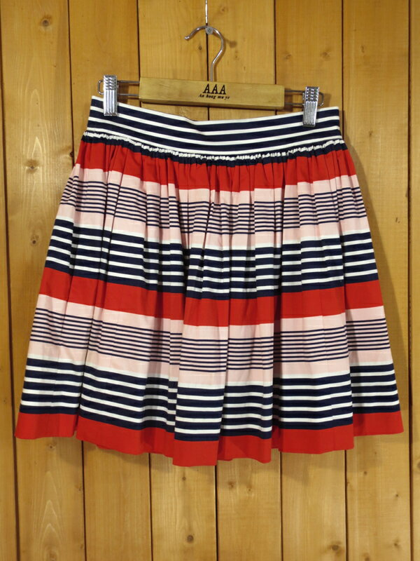 【中古】kate spade/ケイトスペード ボーダー スカート サイズ:0 カラー:-