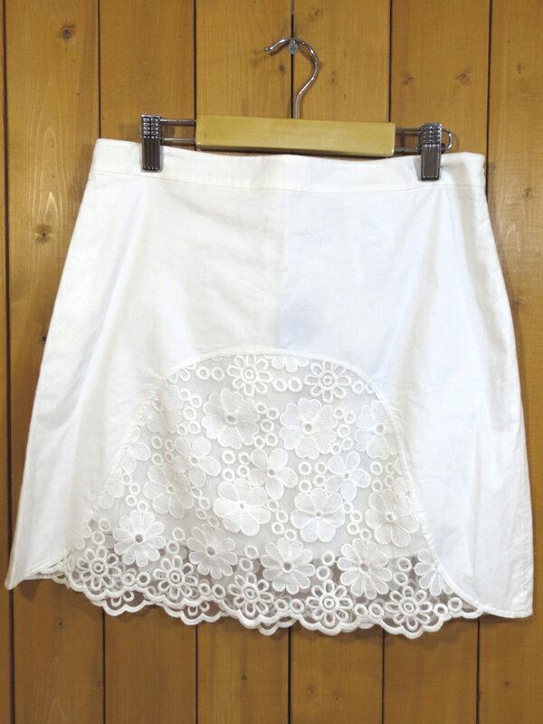 【中古】SEE BY CHLOE/シーバイクロエ レーススカート サイズ:USA 2 カラー:ホワイト / インポート