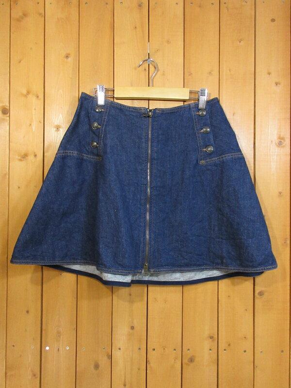 【中古】SEE BY CHLOE/シーバイクロエ デニムスカート サイズ:USA 2 カラー:インディゴ / インポート
