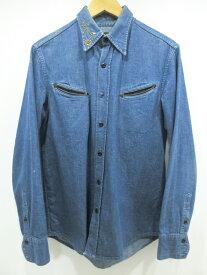 【中古】WESTRIDE/ウエストライド スタッズ デニムシャツ サイズ:38 カラー:インディゴ / ドメス