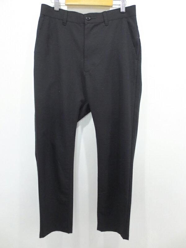 【中古】ZUCCa/ズッカ ストレッチトロ パンツ サイズ:S カラー:ブラック / ドメス