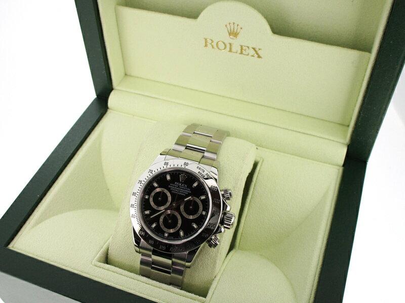【代引き不可】【中古】ROLEX/ロレックス デイトナ ブラックダイアル 腕時計 116520 ブラック×シルバー 自動巻き(オートマチック) ステンレススティールベルト