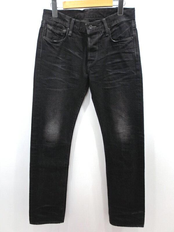 【中古】KURO×AMERICAN RAG CIE | クロ×アメリカンラグシー ブラックデニムパンツ サイズ:29 カラー:ブラック / ドメス