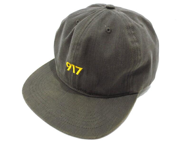 """【中古】Nine One Seven/917/ナインワンセブン AREA CODE HAT エリアコードハット / """"917""""刺繍 6パネル アジャスター キャップ サイズ:- カラー:チャコール"""