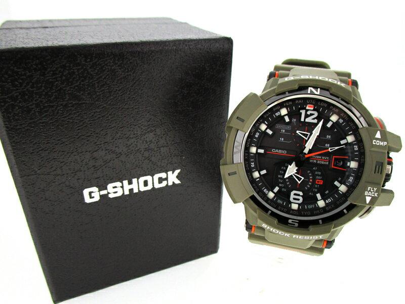 【中古】CASIO/カシオ G-SHOCK GRAVITYMASTER グラビティマスターMaster in OLIVE DRABマスター・イン・オリーブドラブ 腕時計 GW-A1100KH ブラック×カーキ ソーラー 樹脂バンド