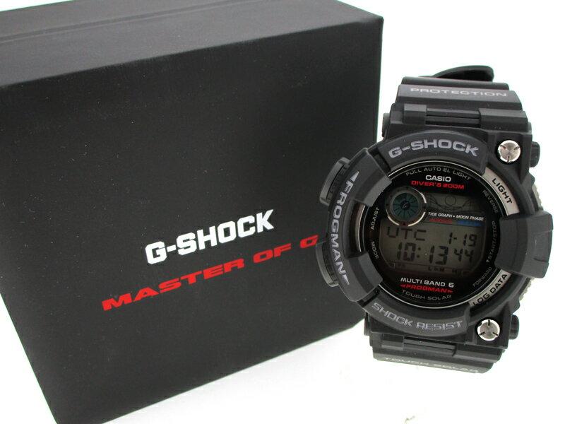 【中古】CASIO/カシオ G-SHOCK Master of G FROGMAN 腕時計 GWF-1000 ブラック ソーラー 樹脂バンド