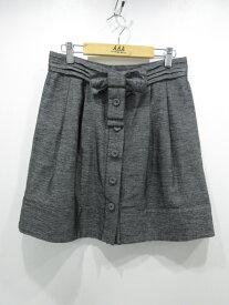 【中古】SEE BY CHLOE/シーバイクロエ ウエストリボンスカート サイズ:USA4 カラー:グレー系 / インポート