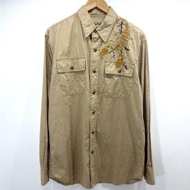 【中古】BUZZ RICKSON'S/バズリクソンズ スコーピオン 長袖シャツ サイズ:XL カラー:ベージュ / アメカジ【f101】