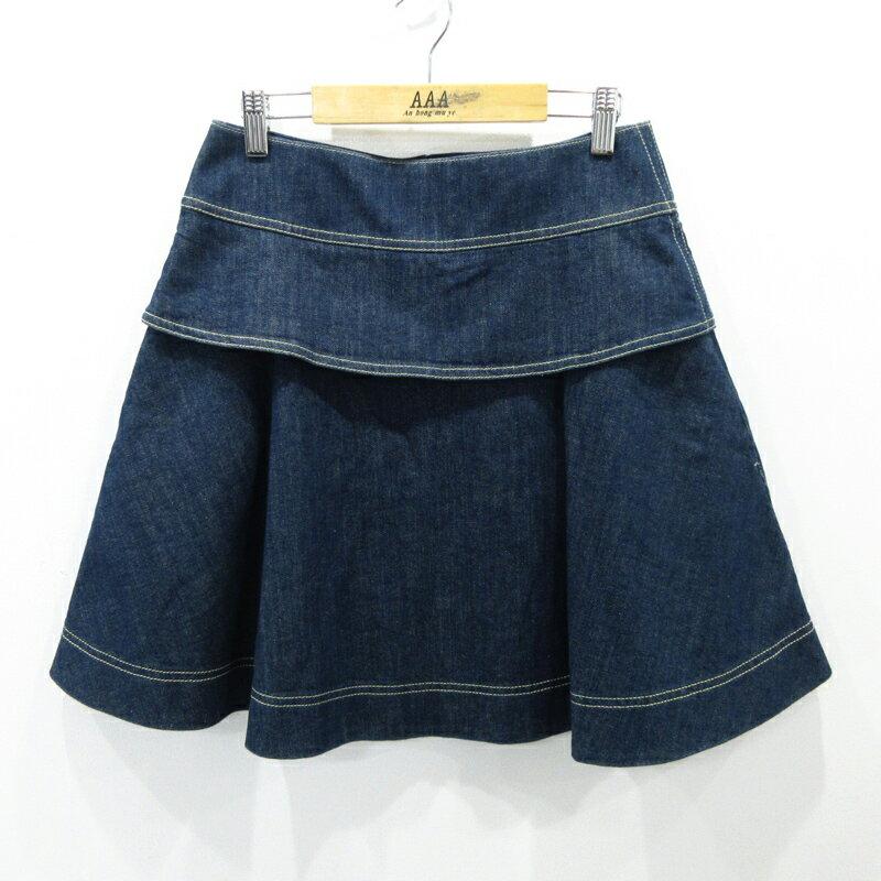 【中古】SEE BY CHLOE/シーバイクロエ デニムスカート サイズ:USA2 カラー:インディゴ / インポート【f112】