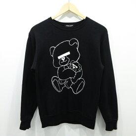 【中古】UNDER COVER/アンダーカバー BEAR SWEAT サイズ:XS カラー:ブラック / ドメス【f104】