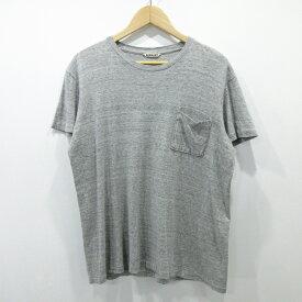 【中古】AURALEE/オーラリー ポケットTシャツ サイズ:3 カラー:グレー / ドメス【f104】