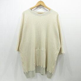【中古】AUGUSTE-PRESENTATION|オーギュストプレゼンテーション Tシャツ 長袖 サイズ:M カラー:ホワイト系【f104】