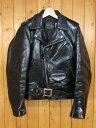 【中古】SCHOTT /ショット ワンスター ホースハイド ジャケット サイズ:34 カラー:ブラック / アメカジ
