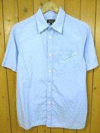 【中古】A.P.C/APC/アーペーセー 半袖シャツ サイズ:1 カラー:ブルー系 / インポート