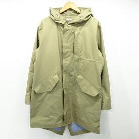 【中古】nanamica|ナナミカ Shell Coat シェルコート SUBF702 サイズ:XS カラー:ベージュ / アウトドア【f092】