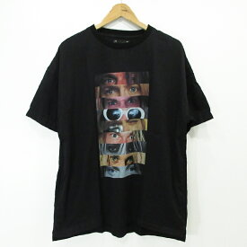 【中古】MINEDENIM マインデニム アイプリント 半袖Tシャツ ブラック サイズ:2【f104】