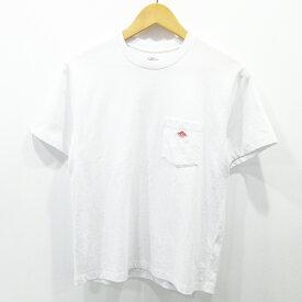 【中古】DANTON|ダントン CREW NECK POCKET T-SHIRT クルーネック クウボウテンジク Tシャツ 半袖 胸ポケット JD-9041 サイズ:36 カラー:ホワイト / インポート【f102】