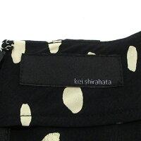 【中古】styling/|スタイリングkeishirahataケイシラハタ19AWNEWArrivalドット柄カシュクールデザインドットプリントワンピース16WF0194034サイズ:1カラー:ブラック【f112】