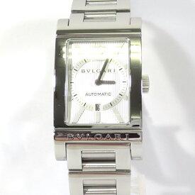 【中古】BVLGARI|ブルガリ RT45S レッタンゴロ 自動巻き 腕時計 / 角型 シルバー×ホワイト【f135】
