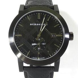 【中古】BURBERRY|バーバリー BU9906 THE CITY ザ・シティ クオーツ 腕時計 / SWISS MADE スイス製 ブラック【f131】