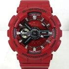 【中古】CASIO|カシオ G-SHOCK ジーショック GMA-S110F-4A Sシリーズ アナデジ クォーツ 腕時計 レッド系×シルバーなど【f131】
