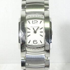 【中古】BVLGARI ブルガリ AA35S Assioma アショーマ アナログ クォーツ 腕時計 シルバー×ホワイト系【f135】