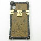 【中古】LOUIS VUITTON|ルイ・ヴィトン アイ・トランク ライト iPhoneケース【X&XS用】 モノグラム・リバース M67893 BC2109 ブラウン×ブラック【f135】