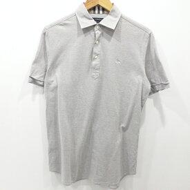【中古】BURBERRY LONDON|バーバリーロンドン 半袖ポロシャツ サイズ:M カラー:グレー / インポート【f102】