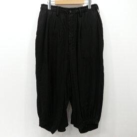 【中古】Yohji Yamamoto|ヨウジヤマモト カラスパンツ 19SS サイズ:2 カラー:ブラック【f108】
