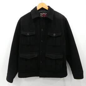 【中古】CUTRATE|カットレイト メルトンジャケット ウールジャケット サイズ:S カラー:ブラック / ドメス【f096】